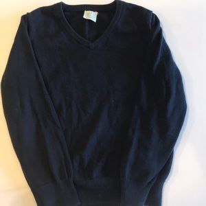 Crewcuts navy v-neck sweater size 4/5